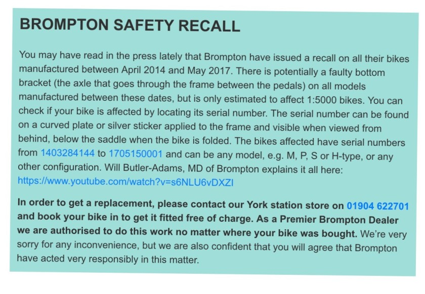 BromptonRecall